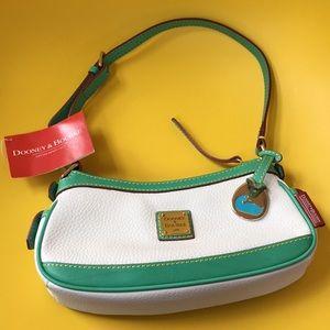 DOONEY & BOURKE mini zip top handbag rare jade NEW